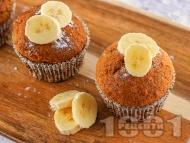 Лесни и пухкави бананови кексчета с орехи и масло